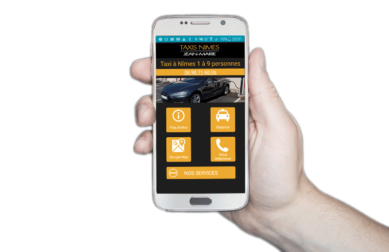 Application Android taxi Nimes Jean Marie